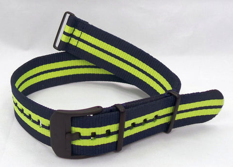 Vostok Europe Almaz NATO Ballistic Nylon Strap 22mm Blue/Yellow-Alm.22.N.B.Bu.Y - Russia2all