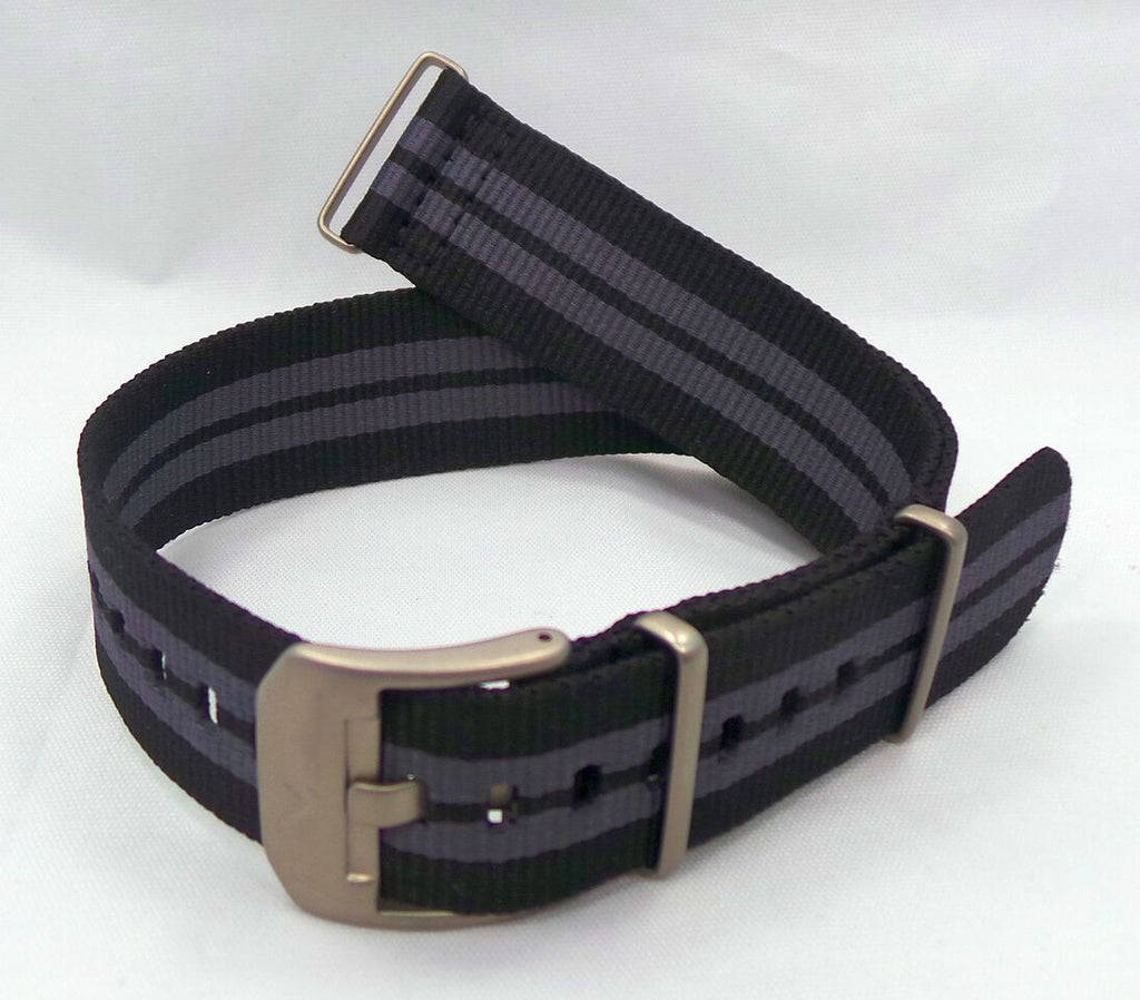 Vostok Europe Almaz NATO Ballistic Nylon Strap 22mm Black/Grey-Alm.22.N.M.Bk.Gy - Russia2all