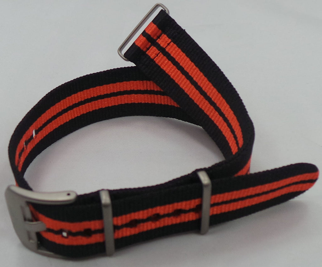 Vostok Europe Almaz NATO Ballistic Nylon Strap 22mm Black/Orange-Alm.22.N.M.Bk.O - Russia2all