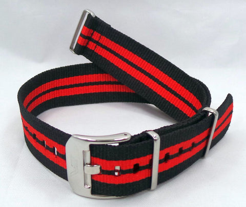 Vostok Europe Almaz NATO Ballistic Nylon Strap 22mm Black/Red-Alm.22.N.S.Bk.R - Russia2all