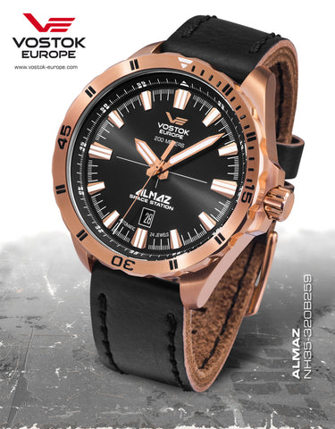 Vostok-Europe Almaz Automatic Leather Strap NH35A/320B259 - 1