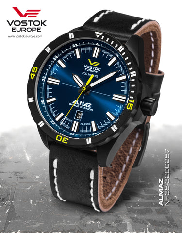 Vostok-Europe Almaz Automatic Leather Strap NH35A/320C257 - 1