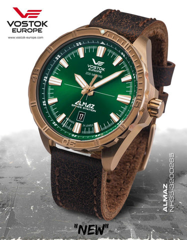 Vostok-Europe Almaz Bronze Automatic Leather Strap NH35A/320O265 - 1