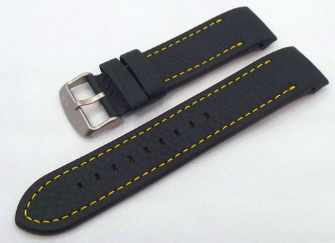 Vostok Europe Anchar Leather Strap 24mm Black/Yellow-Anc.24.L.M.Bk.Y - Russia2all