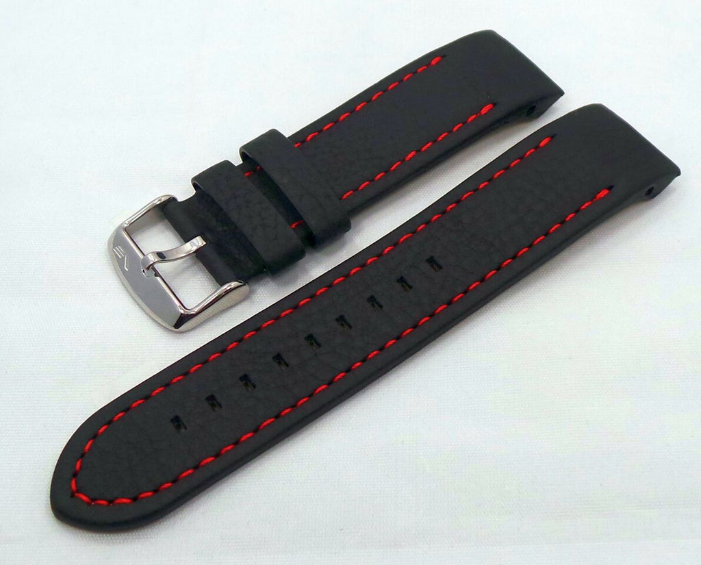 Vostok Europe Anchar Leather Strap 24mm Black/Red-Anc.24.L.S.Bk.R - Russia2all