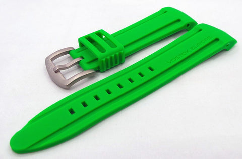 Vostok Europe Anchar Silicon Strap 24mm Green-Anc.24.S.M.G - Russia2all