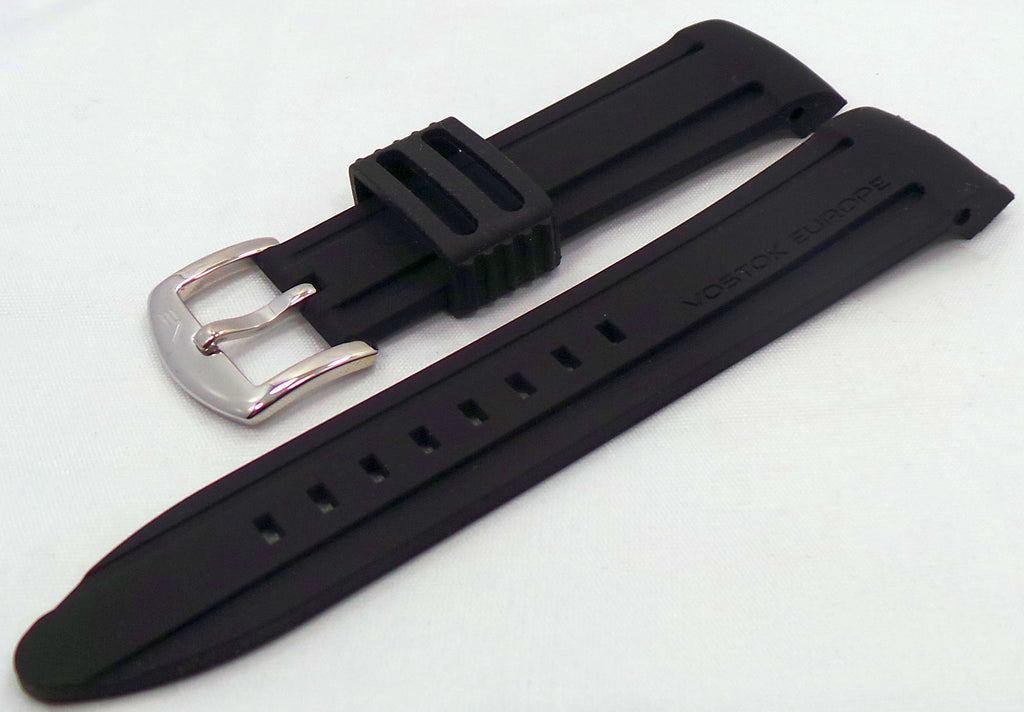 Vostok Europe Anchar Silicon Strap 24mm Black-Anc.24.S.S.Bk - Russia2all