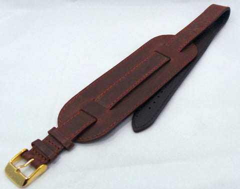 Aviator Leather Strap 16mm Brown-Avi.16.L.R.Br - Russia2all