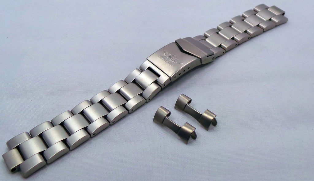 Aviator Bracelet 20mm Matte Stainless Steel-Avi.20.B.S - Russia2all