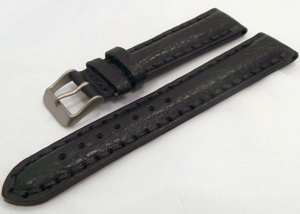 Aviator Leather Strap 20mm Black-Avi.20.L.M.Bk - Russia2all