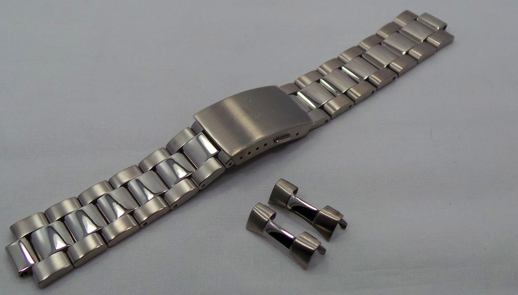 Aviator Bracelet 22mm Matte-Polished Stainless Steel-Avi.22.B.S - Russia2all