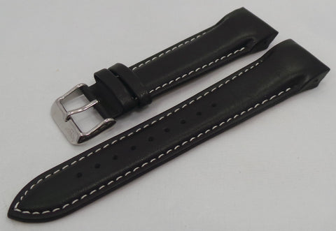 Aviator Leather Strap 22mm Black-Avi.22.L.S.Bk.W - Russia2all