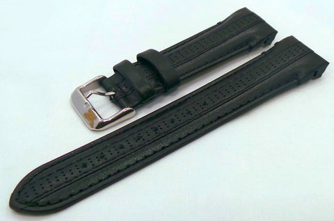 Aviator Leather Strap 22mm Black-Avi.22.L.S.Bk - Russia2all