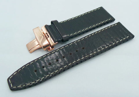 Vostok Europe Ekranoplan Caspian Sea Monster Leather Strap 25mm Black/White-CSM.25.L.R.Bk.W - Russia2all