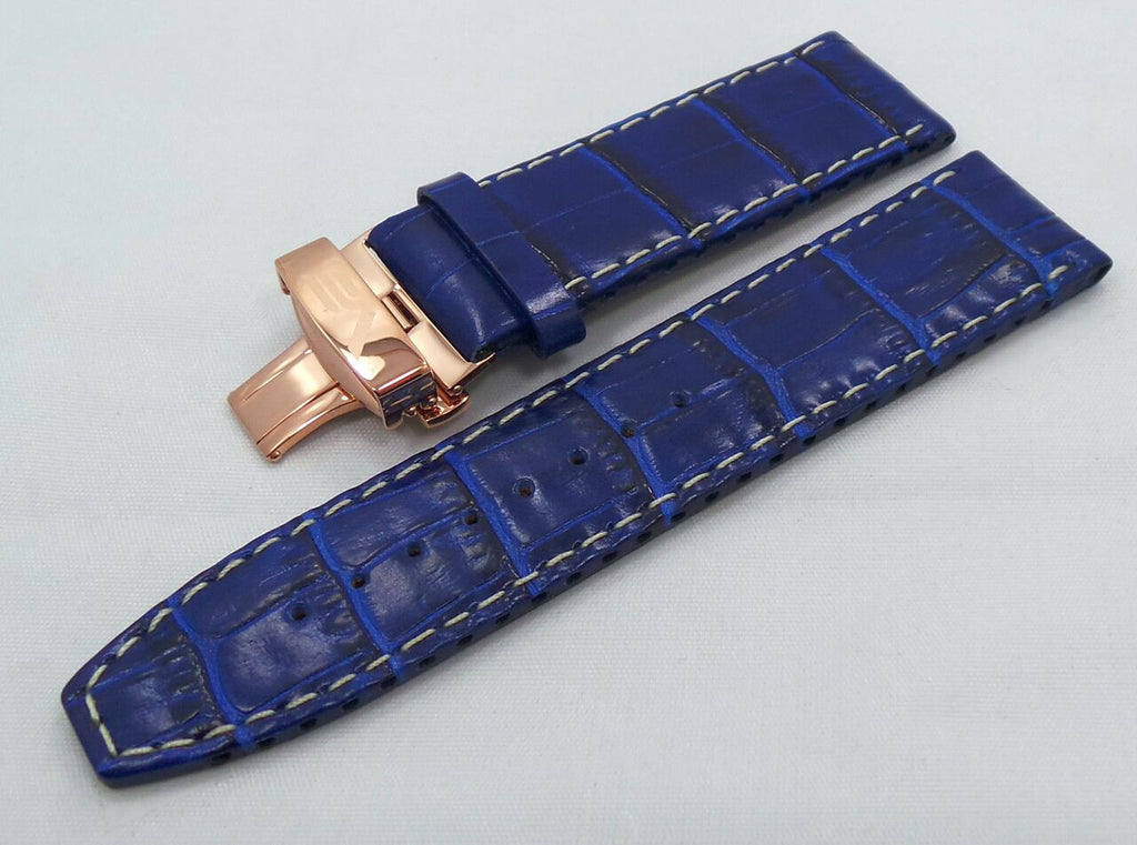 Vostok Europe Ekranoplan Caspian Sea Monster Leather Strap 25mm Blue/White-CSM.25.L.R.Bu.W - Russia2all