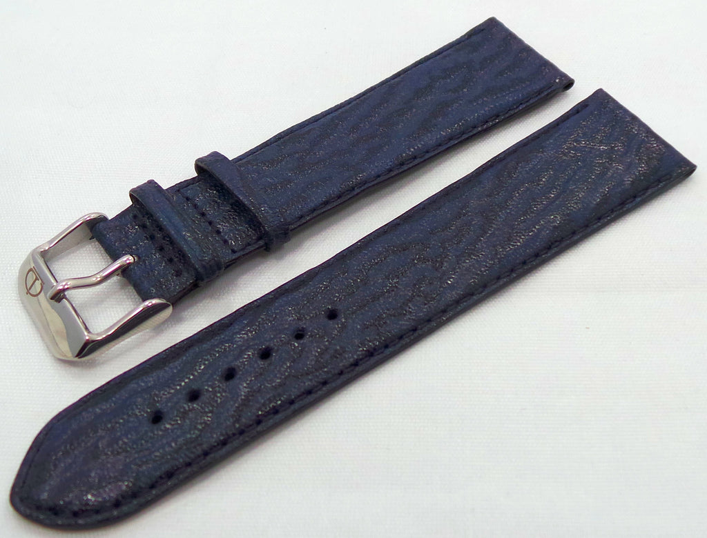 Denissov Leather Strap 23mm Blue-Den.23.L.S.Bu - Russia2all