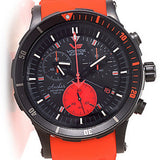Vostok-Europe 48mm Anchar Quartz Chronograph Strap Watch w/ Extra Strap & Case