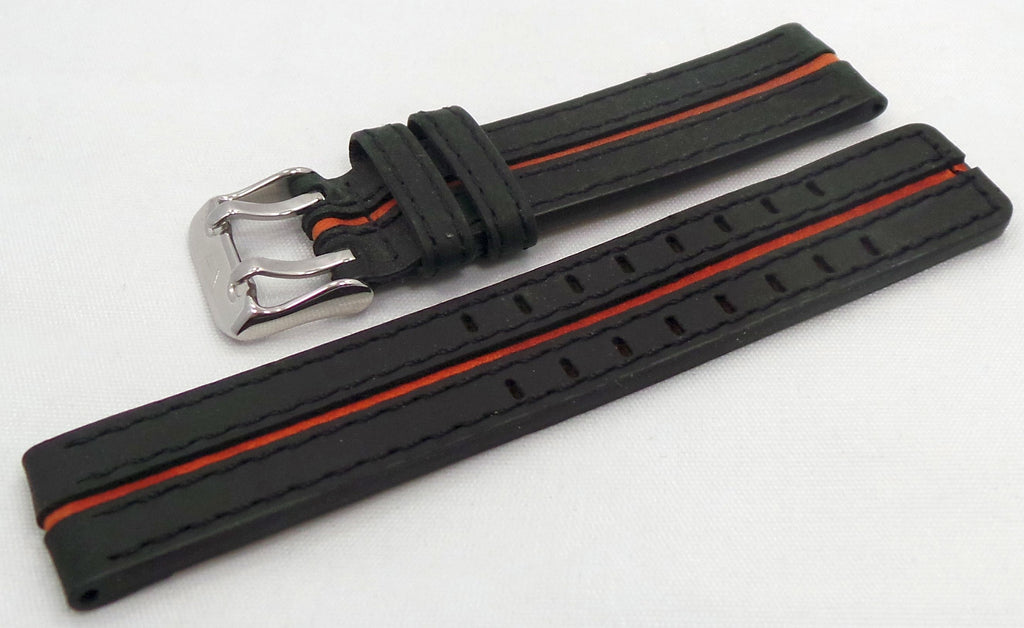 Vostok Europe Expedition North Pole Leather Strap 20mm Black/Orange-Exp.20.L.S.Bk.O - Russia2all