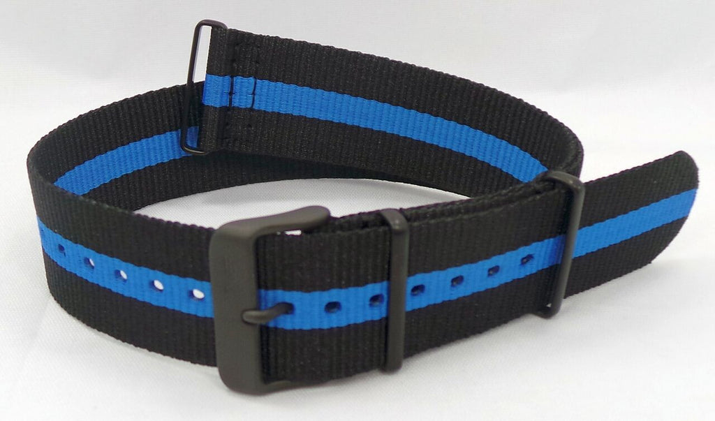 Vostok Europe Expedition North Pole NATO Ballistic Nylon Strap 24mm Black/Blue-Exp.24.N.B.Bk.Bu - Russia2all