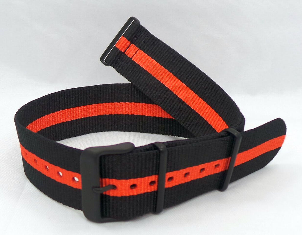 Vostok Europe Expedition North Pole NATO Ballistic Nylon Strap 24mm Black/Orange-Exp.24.N.B.Bk.O - Russia2all