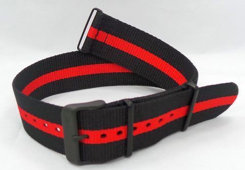 Vostok Europe Expedition North Pole NATO Ballistic Nylon Strap 24mm Black/Red-Exp.24.N.B.Bk.R - Russia2all