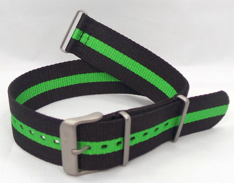 Vostok Europe Expedition North Pole NATO Ballistic Nylon Strap 24mm Black/Green-Exp.24.N.M.Bk.G - Russia2all
