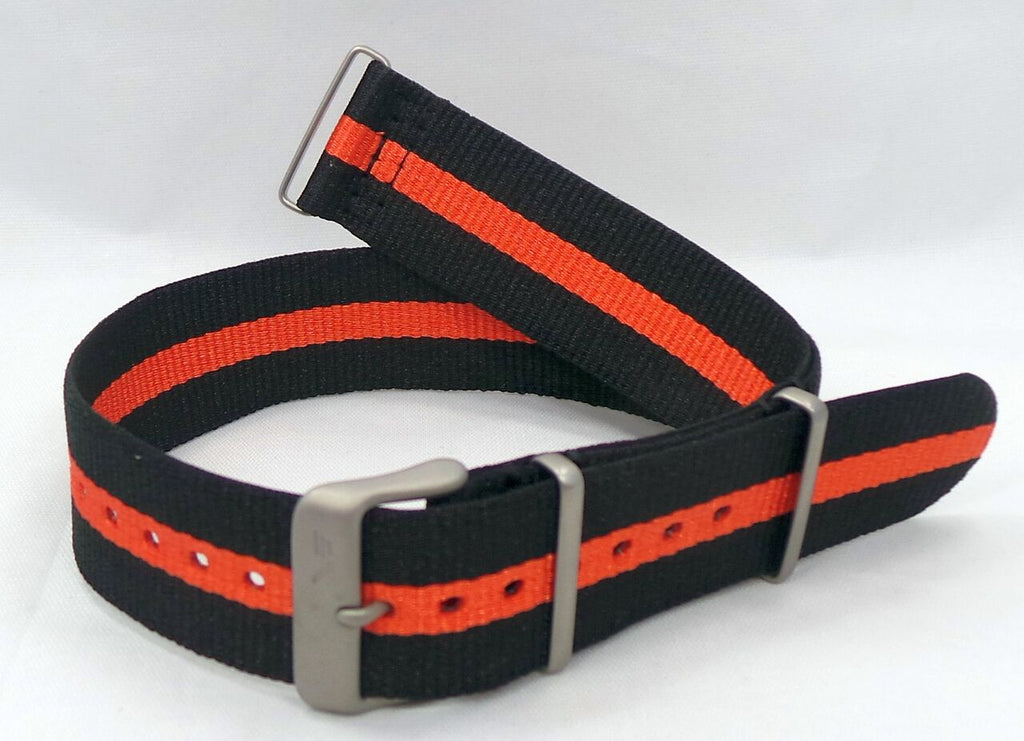 Vostok Europe Expedition North Pole NATO Ballistic Nylon Strap 24mm Black/Orange-Exp.24.N.M.Bk.O - Russia2all