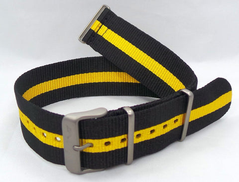 Vostok Europe Expedition North Pole NATO Ballistic Nylon Strap 24mm Black/Yellow-Exp.24.N.M.Bk.Y - Russia2all