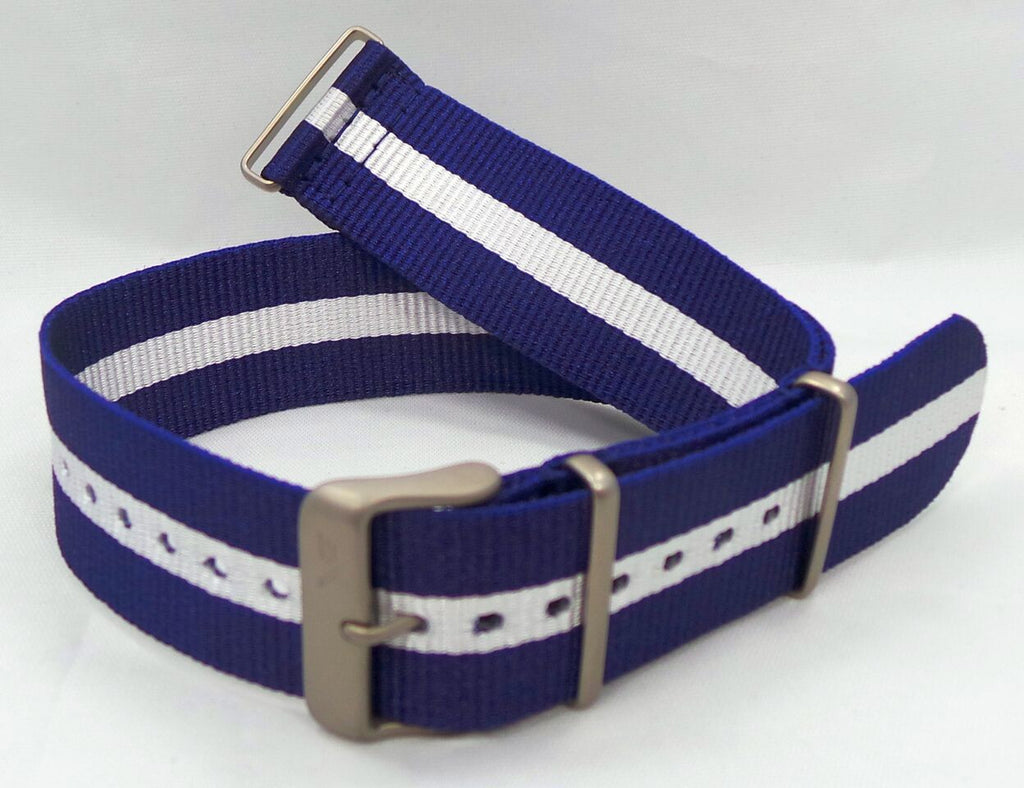 Vostok Europe Expedition North Pole NATO Ballistic Nylon Strap 24mm Blue/White-Exp.24.N.M.Bu.W - Russia2all
