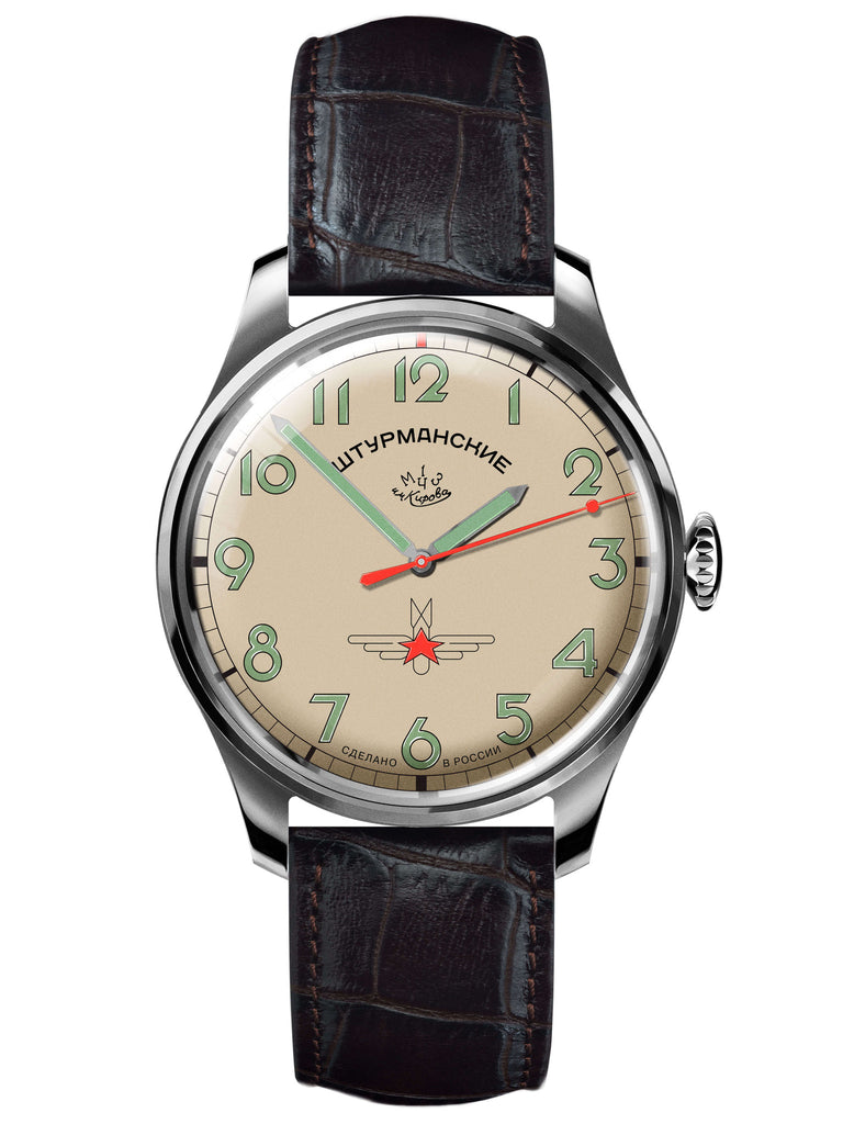 Sturmanskie Gagarin Commemorative Limited Edition Mechanical Watch 2609/3707128-Titanium - Russia2all