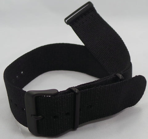 Vostok Europe Gaz-Limo Nato Ballistic Nylon Strap 23mm Black-Gaz.23.N.B.Bk - Russia2all