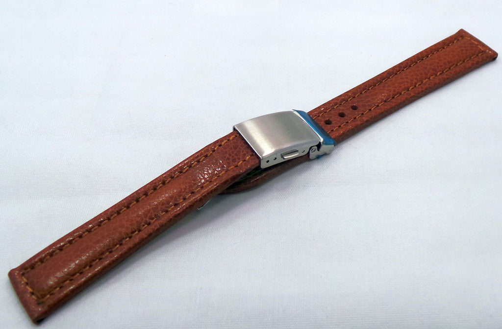 Generic Leather Strap 18mm Brown-Gen.18.L.M.Br - Russia2all