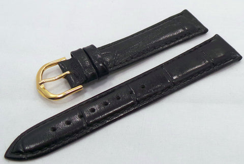 Generic Leather Strap18mm Black-Gen.18.L.R.Bk - Russia2all
