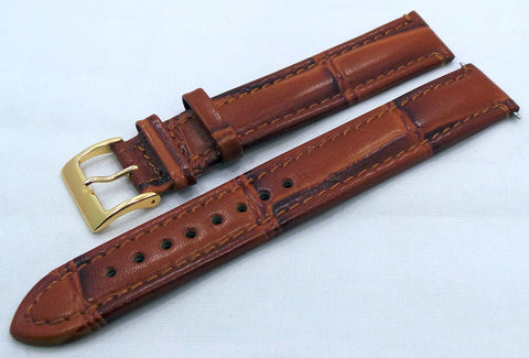 Generic Leather Strap18mm Brown-Gen.18.L.R.Br - Russia2all