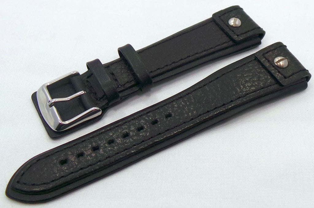 Generic Leather Strap 24mm Black-Gen.24.L.S.Bk - Russia2all