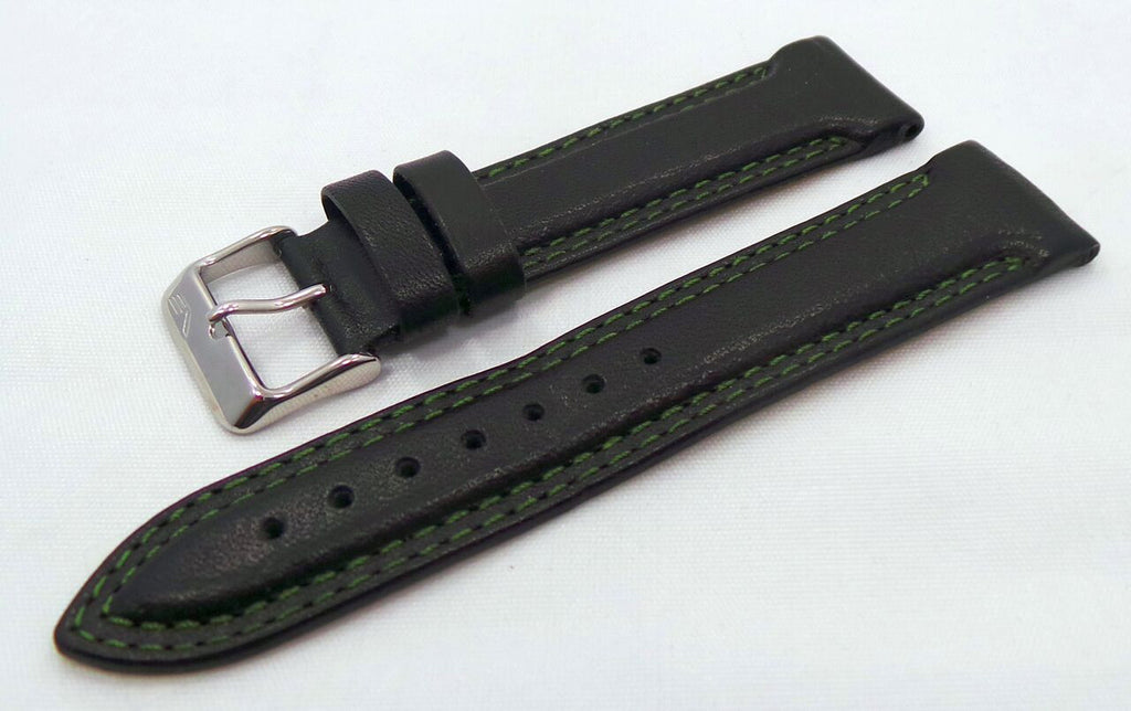 Vostok Europe K3 Leather Strap 21mm Black/Green-K3.21.L.S.Bk.G - Russia2all