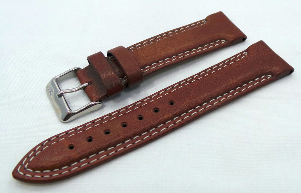 Vostok Europe K3 Leather Strap 21mm Brown/White-K3.21.L.S.Br.W
