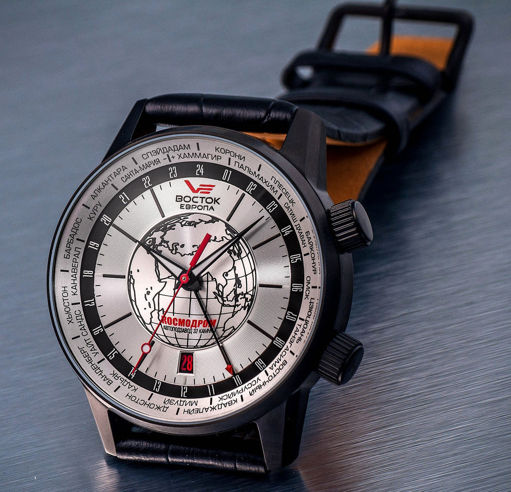 Vostok-Europe WUS Kosmodrom Special Limited Edition Worldtimer Watch  2426/5604350 - Russia2all