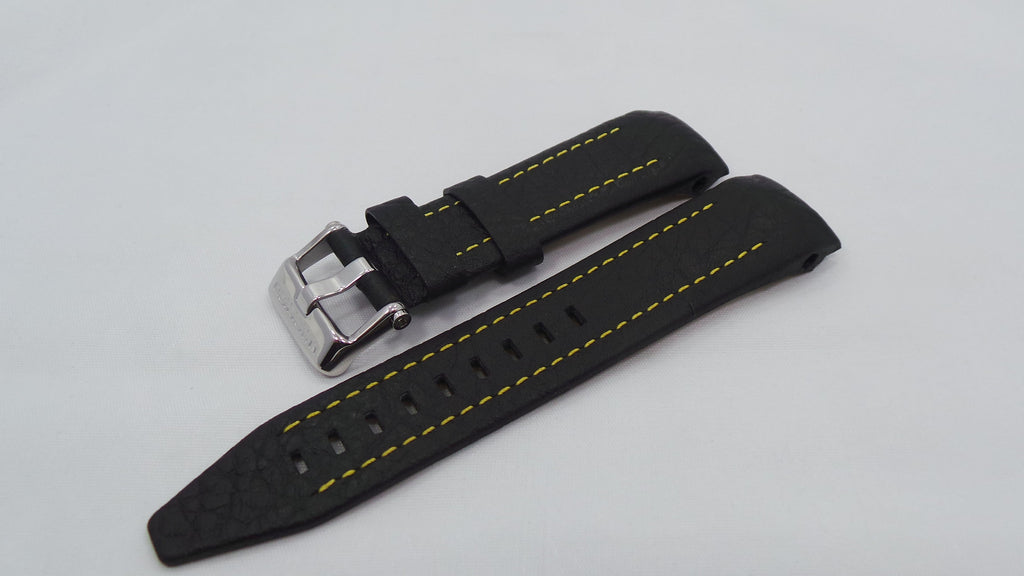 Vostok Europe Lunokhod Leather Strap 25mm Black/Yellow-Lun.25.L.S.Bk.Y - Russia2all