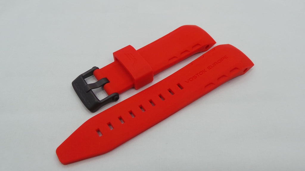 Vostok Europe Lunokhod Silicon Strap 25mm Red-Lun.25.S.B.R - Russia2all