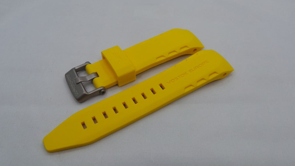 Vostok Europe Lunokhod Silicon Strap 25mm Yellow-Lun.25.S.M.Y - Russia2all