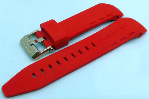 Vostok Europe Lunokhod Silicon Strap 25mm Red-Lun.25.S.R.R - Russia2all