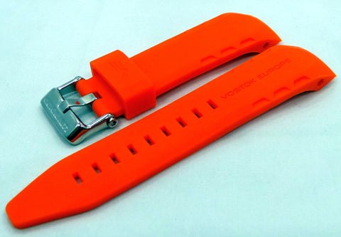 Vostok Europe Lunokhod Silicon Strap 25mm Orange-Lun.25.S.S.O - Russia2all