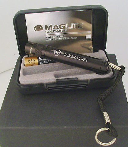 Russia2all Engraved Black Mag Light with Case - Gift With $239 Purchase Only* - Russia2all