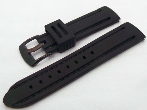 Moscow Classic Silicon Strap 22mm Black-MC.22.S.B.Bk - Russia2all