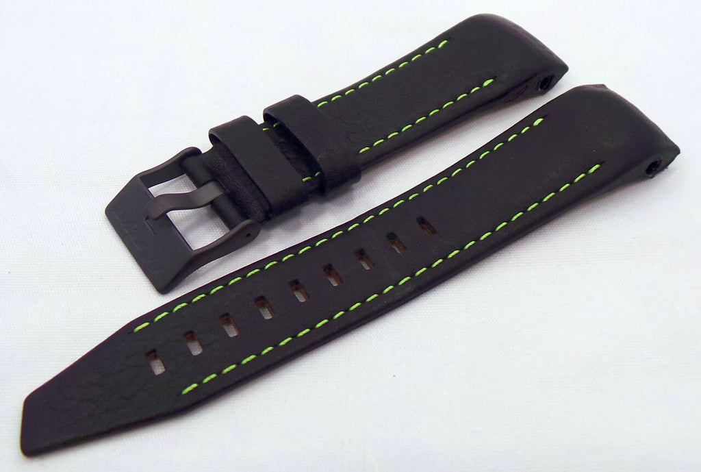 Vostok Europe Mriya Leather Strap 24mm Black/Green-Mry.24.L.B.Bk.G - Russia2all