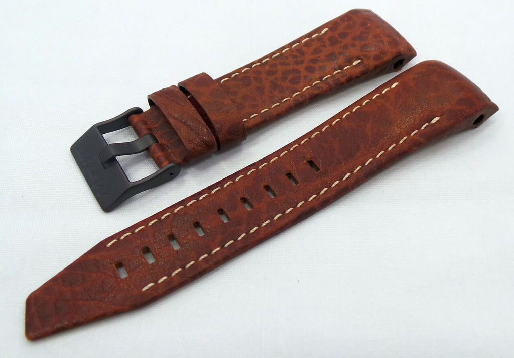 Vostok Europe Mriya Leather Strap 24mm Brown/White-Mry.24.L.B.Br.W - Russia2all