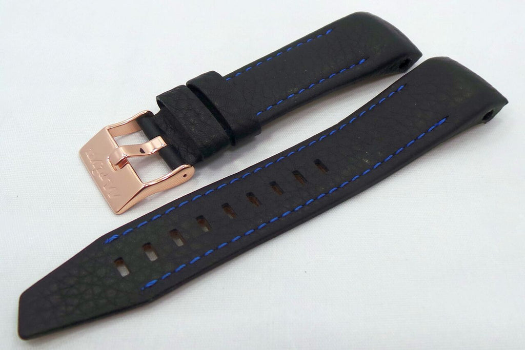 Vostok Europe Mriya Leather Strap 24mm Black/Blue-Mry.24.L.R.Bk.Bu - Russia2all
