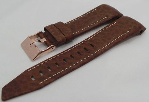 Vostok Europe Mriya Leather Strap 24mm Brown/White-Mry.24.L.R.Br.W - Russia2all