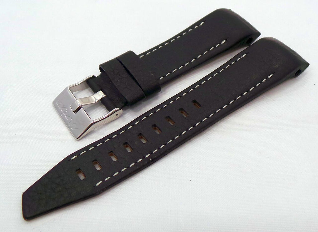 Vostok Europe Mriya Leather Strap 24mm Black/White-Mry.24.L.S.Bk.W - Russia2all